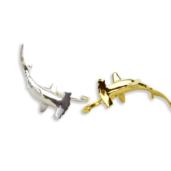 AK Hammerhead knuckleduster ring silver gold tops
