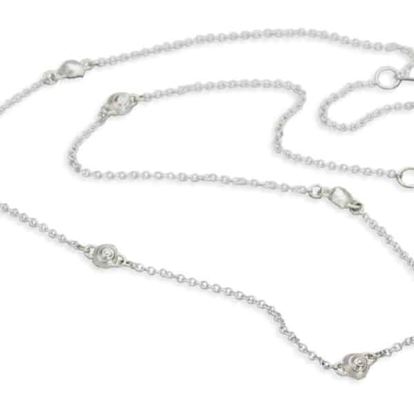 AK long snail chain in sterling
