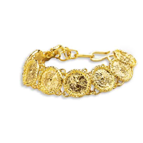AK zoanthid bracelet gold front white