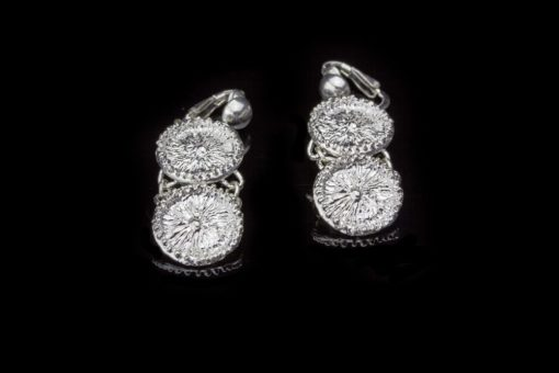 Alohi Kai double Zoanthid Anemone Clip earrings flat
