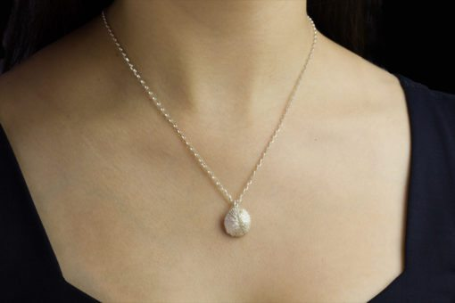 Alohi Kai mushroom coral chunky necklace model