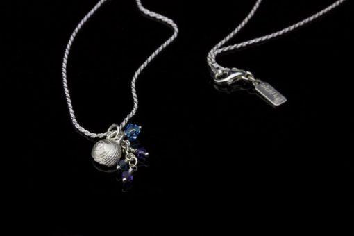 Alohi Kai snail Tiny Shell Charm Silver Necklaces