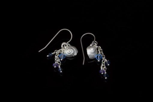 Alohi Kai snail earrings crystal