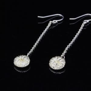 Alohi Kai Tiny Mushroom Coral Dangle Earrings