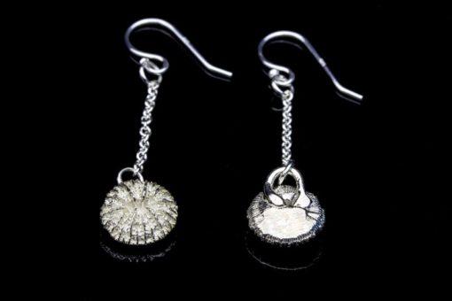 Alohi Kai mushroom coral earrings front back