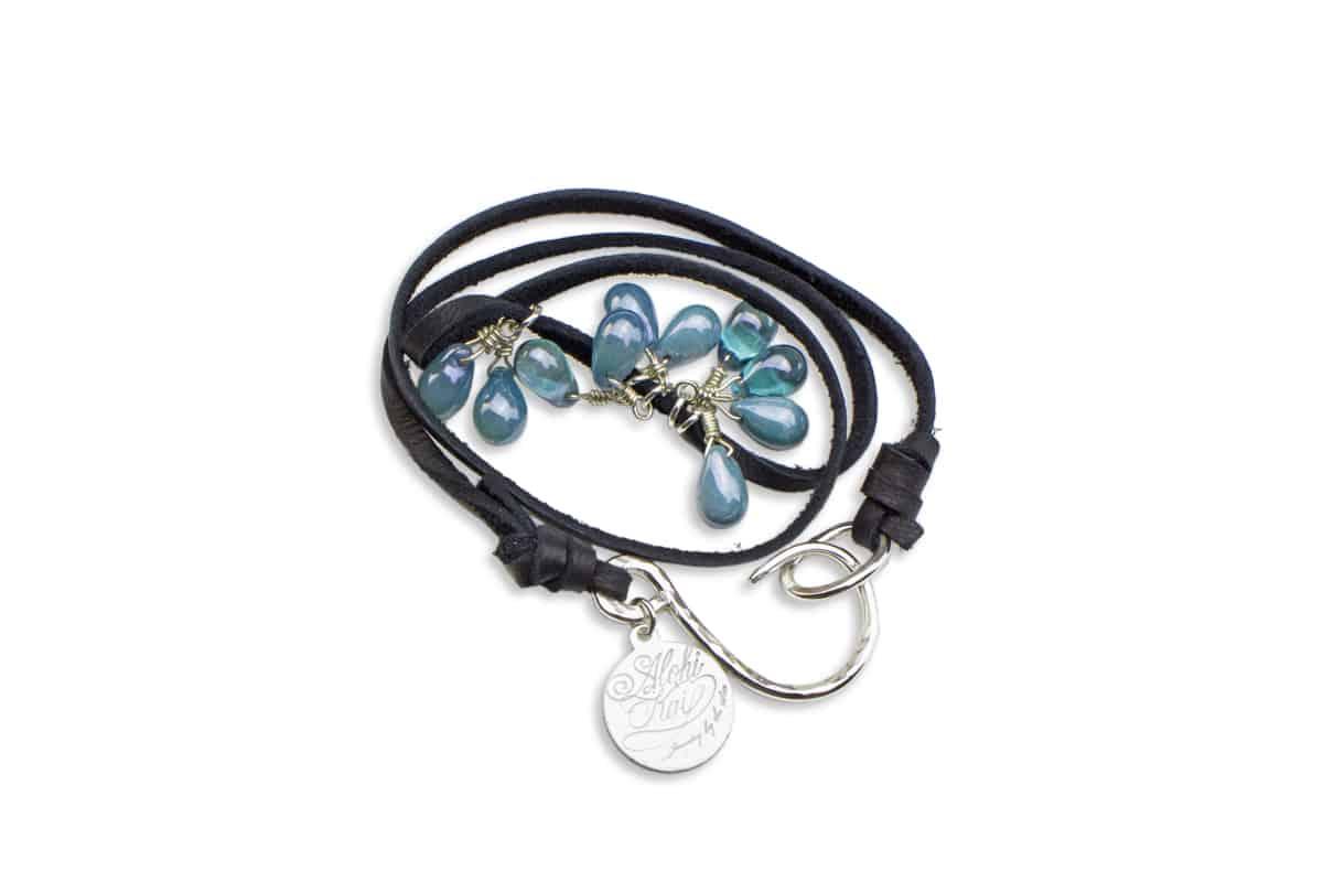 Alohi Kai water drops BCH Wrap Bracelet