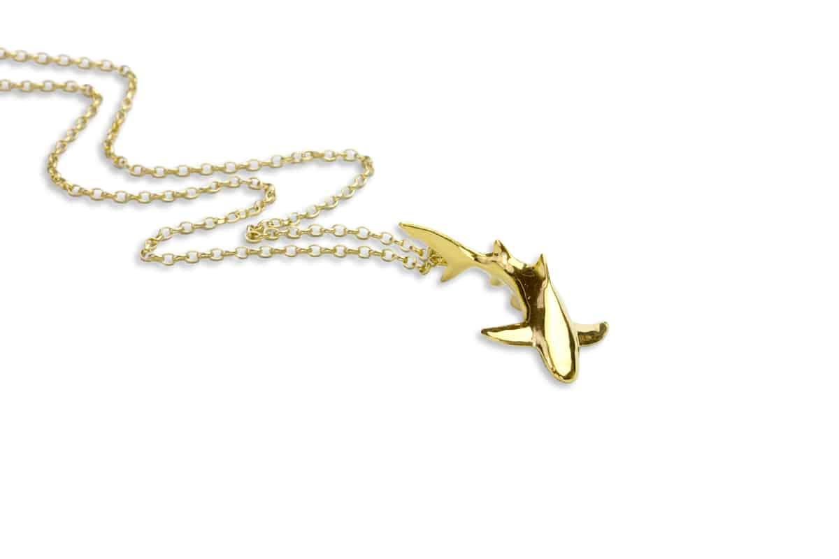 Gold Lemon Shark necklace