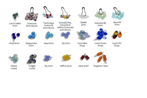 glass beads dangles