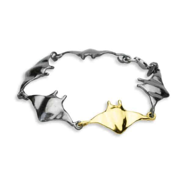 AK manta link bracelet black-gold