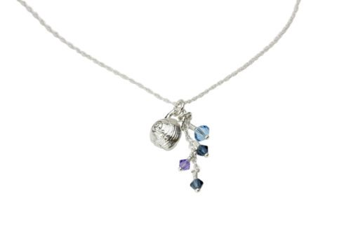 Hohonu Tiny Shell Charm Silver Necklaces