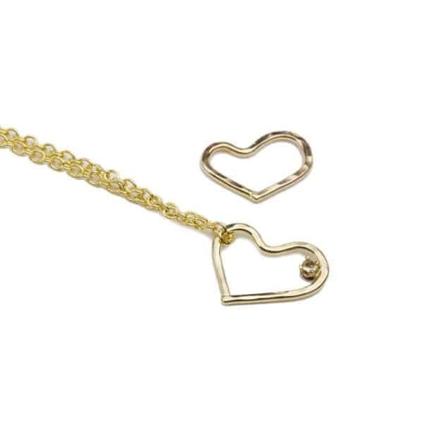Alohi Kai 14k gold hearts