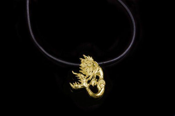 Alohi Kai Darkling Black Siren Necklaces - leather gold