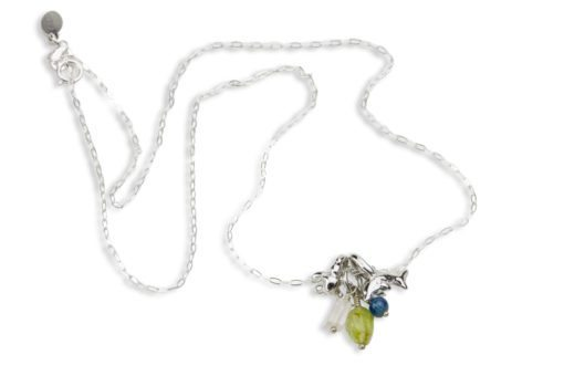 Hohonu Honu Dolphin gems necklace