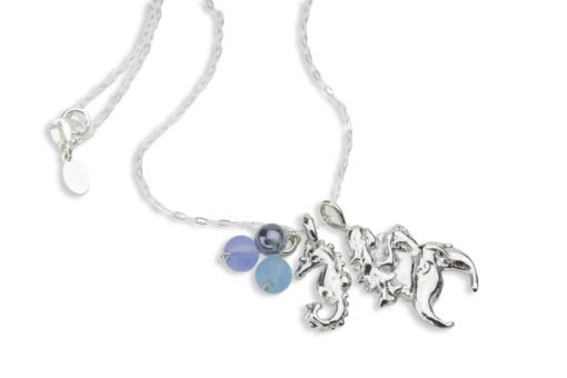 Hohonu Dream Mermaid Necklace with seahorse