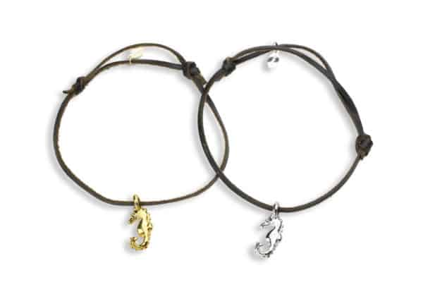 Hohonu petite seahorse charm bracelet seahorse leather