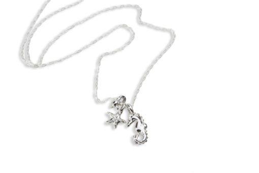 Hohonu oceanid Starfish Seahorse necklace