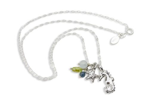 hohonu Starfish Seahorse gems necklace
