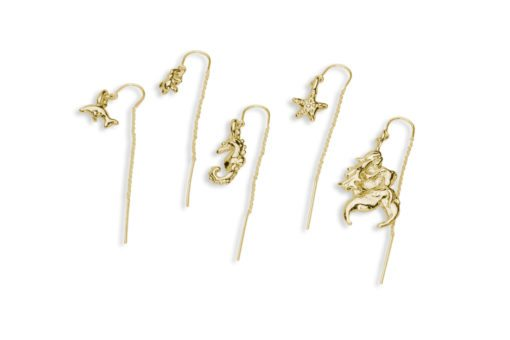 hohonu In the Dew of Little Things Oceanid Earrings gold