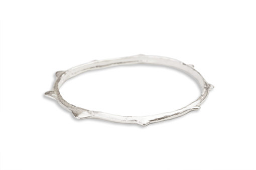 AK ola ahi silver bangle -side view