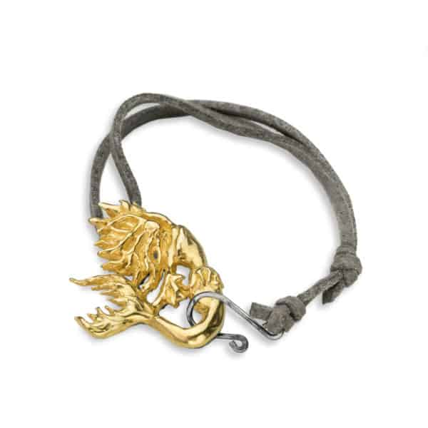 AK siren adj bracelet grey-gold closed