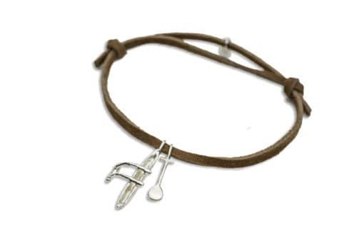 Hohonu adj bracelet canoe paddle suede CLOSE
