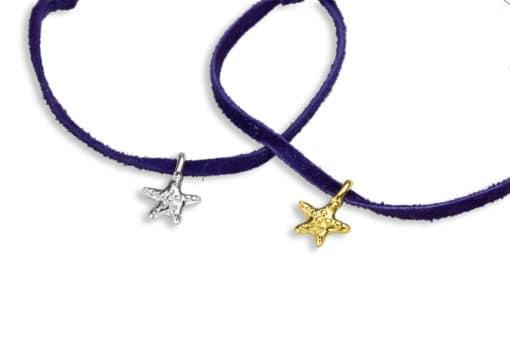 H oceanid adj bracelet suede sea stars close