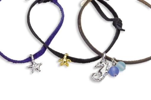H oceanid adj bracelet suede trio