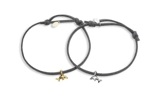 Hohonu adj bracelet baby naia dolphin charm bracelet whole grey