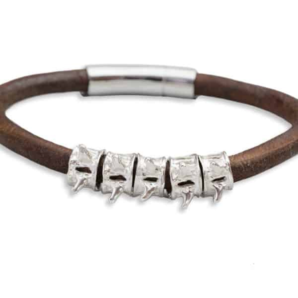 AIW vertebrae bracelet brown close