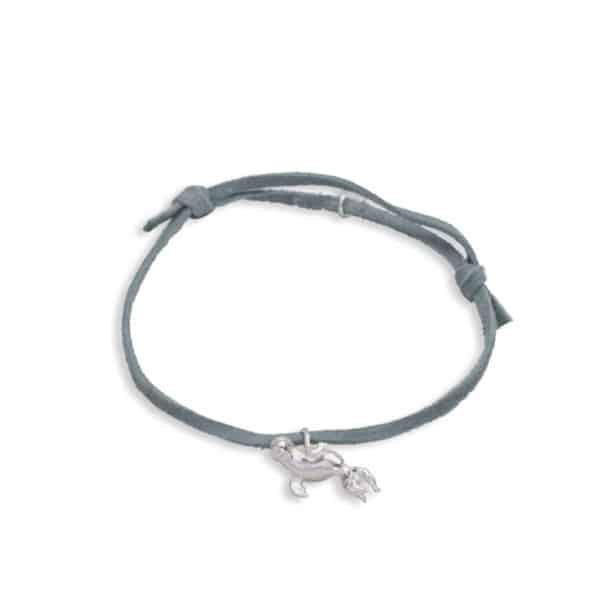 H bijoux adj bracelet seal grey