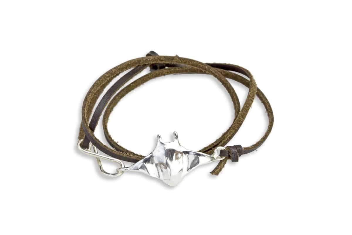 Hahalua Manta Ray Cuff Bracelet