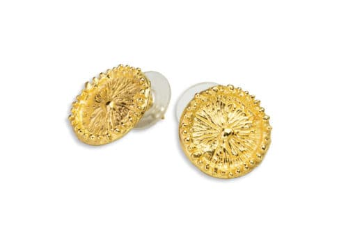 AK zoanthid earrings post gold