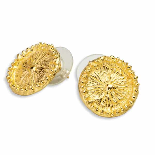 AK zoanthid earrings post gold