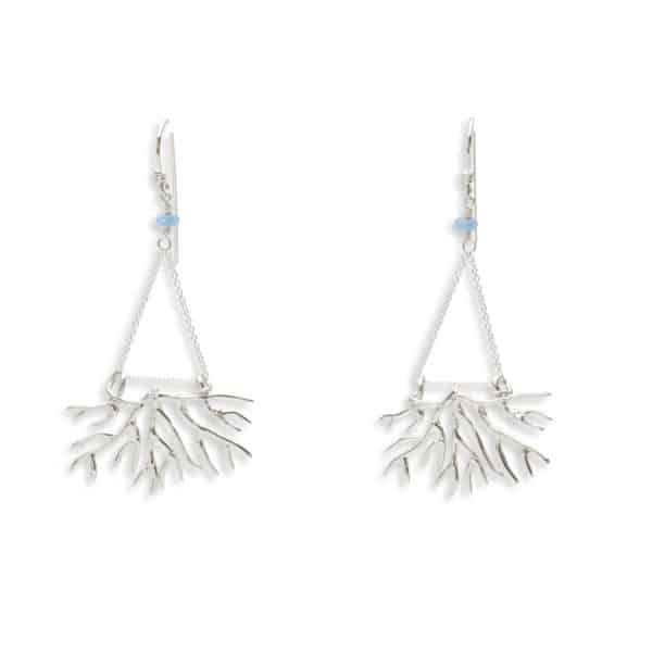 Bryozoan earrings