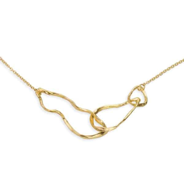 AK Ola Wai Trio Necklace Gold 2 close