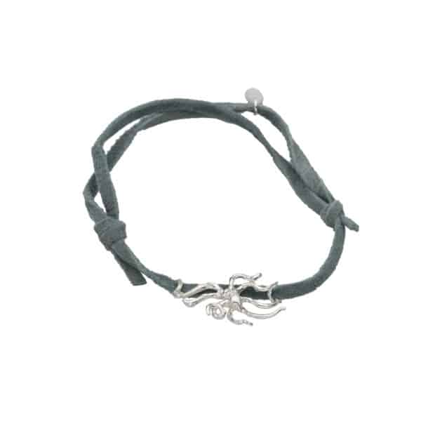 Night octopus adj bracelet grey