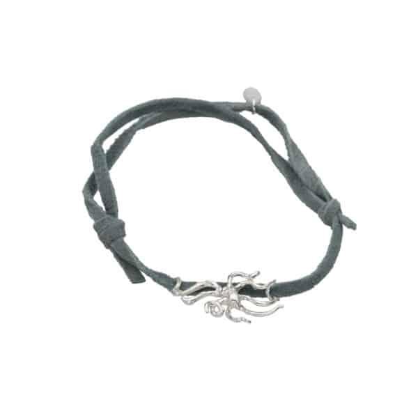 Night octopus adj bracelet grey