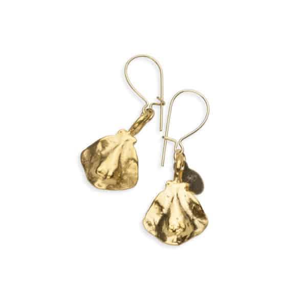 stingray drop earrings gold 2