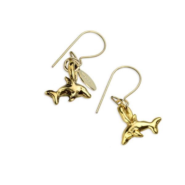 Hohonu Tiny Naia gold earrings