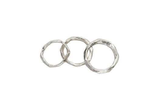 AK Wai rings trio overlap