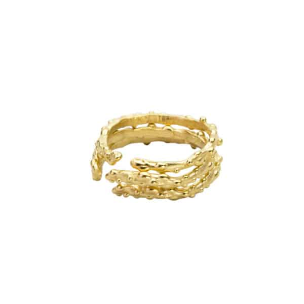 AK limu blade ring stack Gold