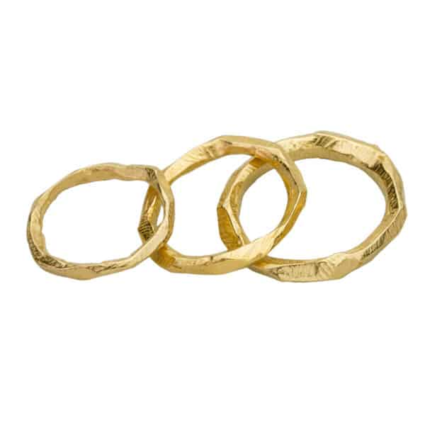 AK wai ring trio Gold