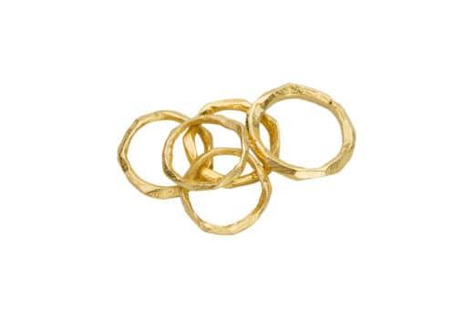 AK wai rings pile Gold