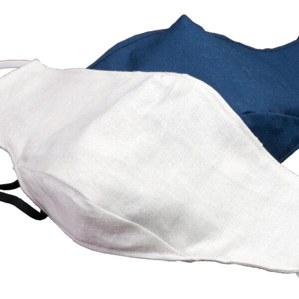 Masks - white on blue